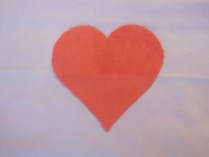 Coeur en minkee corail, pour le corps du Mei Tai